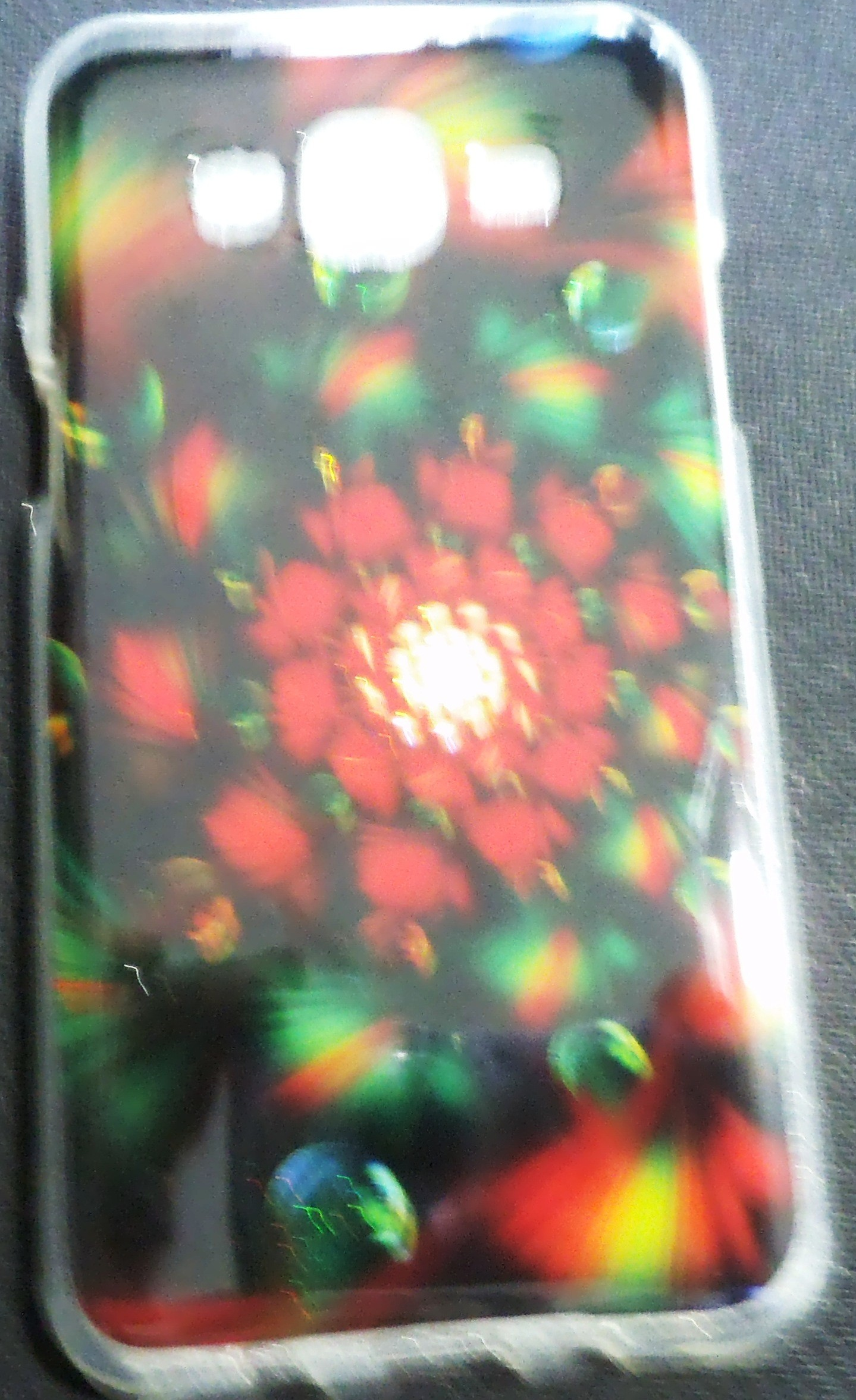 Samsung Galaxy J5  Back Cover(Red Flower)