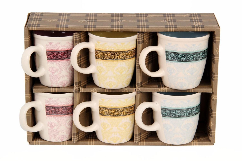 Eon Stoneware Coffee Mug Set, Set of 6, 200ml,