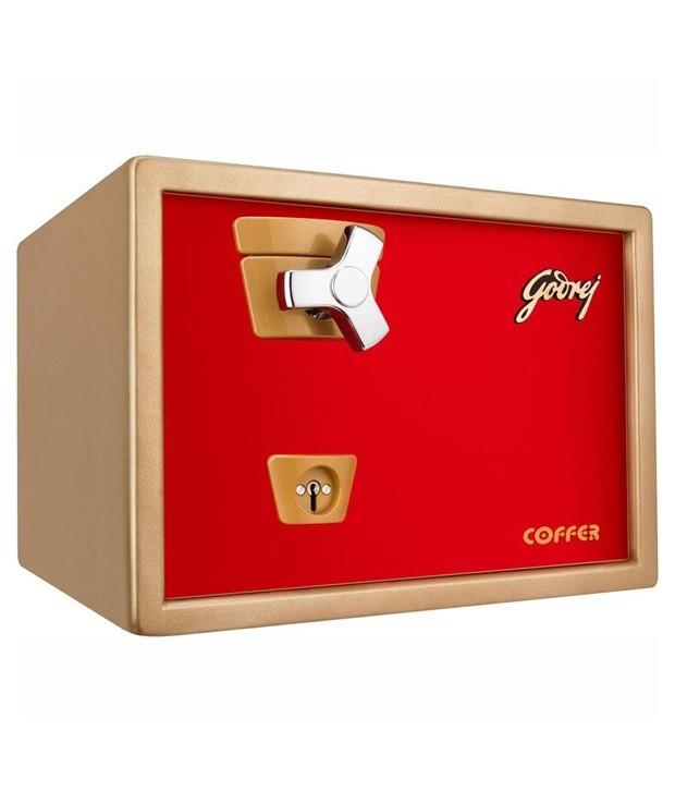 Godrej Premium Coffer V1 Red Safe