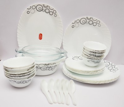 LaOpala Misty Drops Pack of 35 Dinner Set (Ceramic)