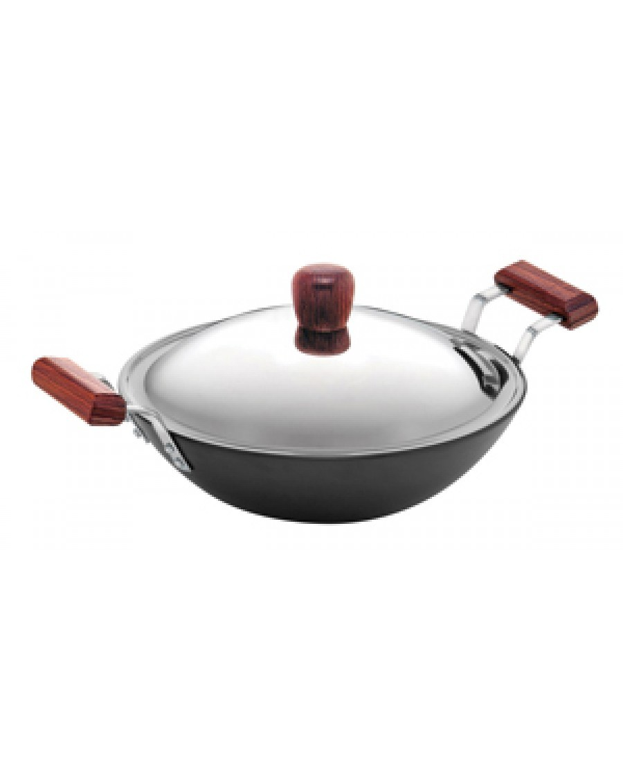 Hawkins Futura Deep Fry Pan IL26 With LId 3.75L & 2 short Handles(Flat Bottom)