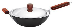 Hawkins Futura Deep Fry Pan IQ74 3L With Lid (Stir Fry Wok)(Flat Bottom)