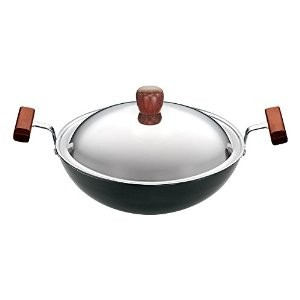 Hawkins Futura Deep fry Pan L19 With Lid 1.5L Kadai  (Round Bottom)