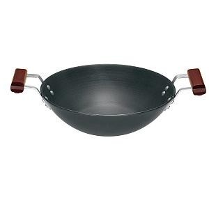 Hawkins Futura Deep Fry Pan L25 3.75L & 2 short Handles(Flat Bottom)