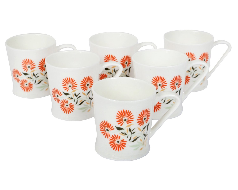 Bharat Bone China Peter Small 6pc Mug Set