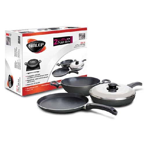 Nirlep Non-Stick Induction Compatible Gift Set, 4-Pieces