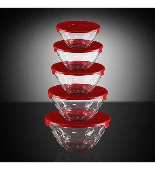 Roxx Dotty Bowl Red Set 5 Pcs