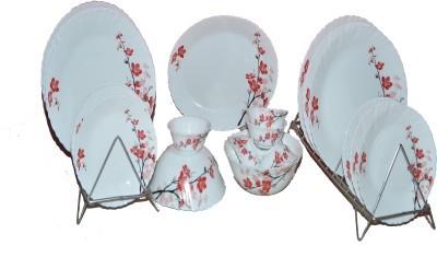 Roxx Opal Pack of 21 Dinner Set (Ceramic)
