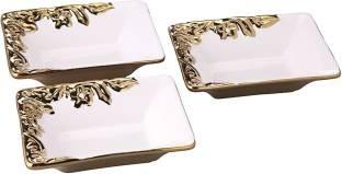 Roxx Viva Gold 3 Pc Bowl Set Ceramic Bowl Set