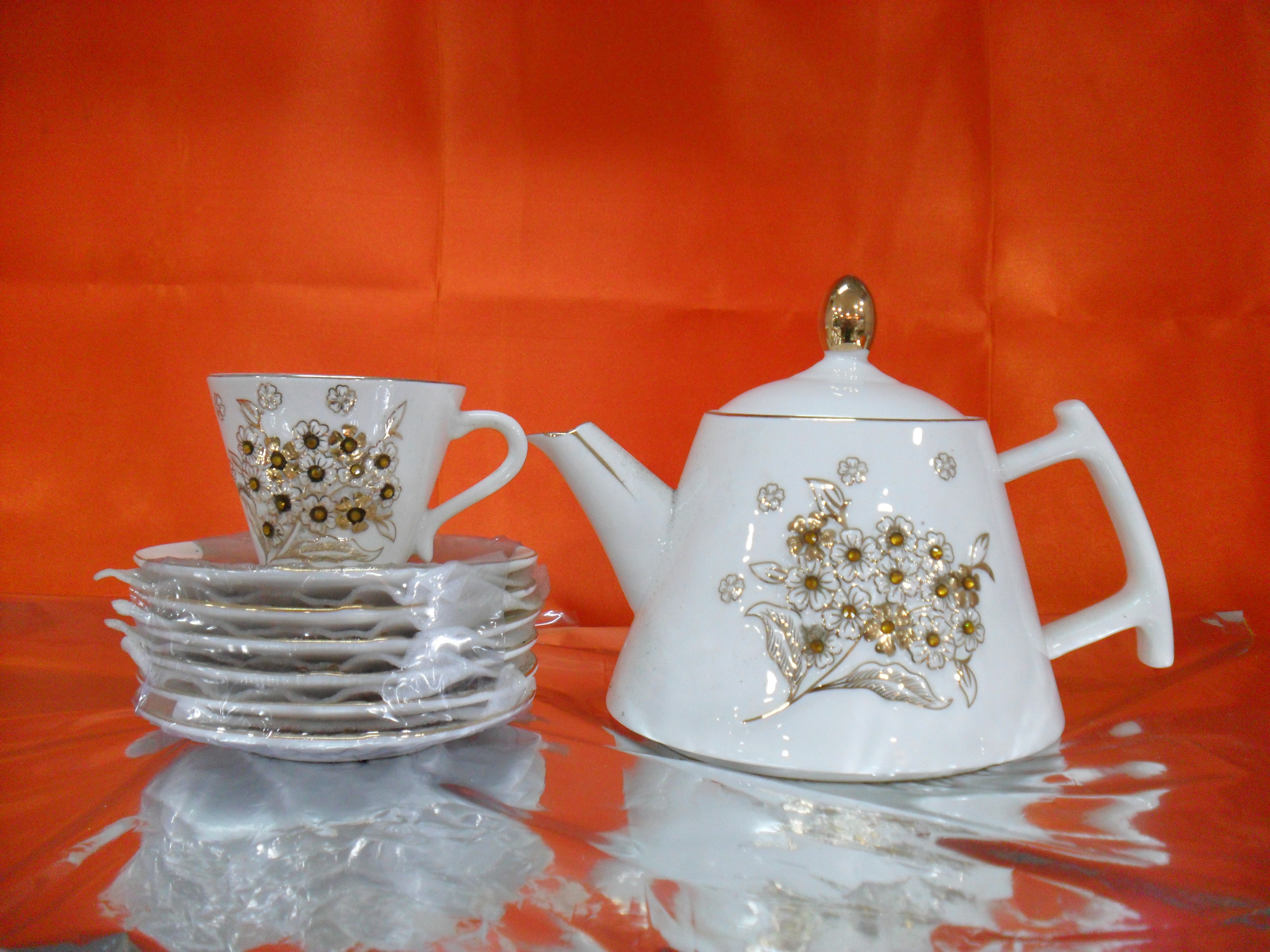 Hi Luxe Crystal Jupiter Tea Set