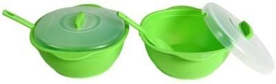 Signoraware Cook N Serve Big - 1.8 L Plastic Food Storage (Pack of 2, Green)