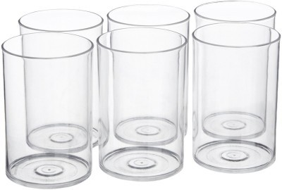 Signoraware Crystal Clear Glass (Set/6)  914 (280 ml, White, Pack of 6)
