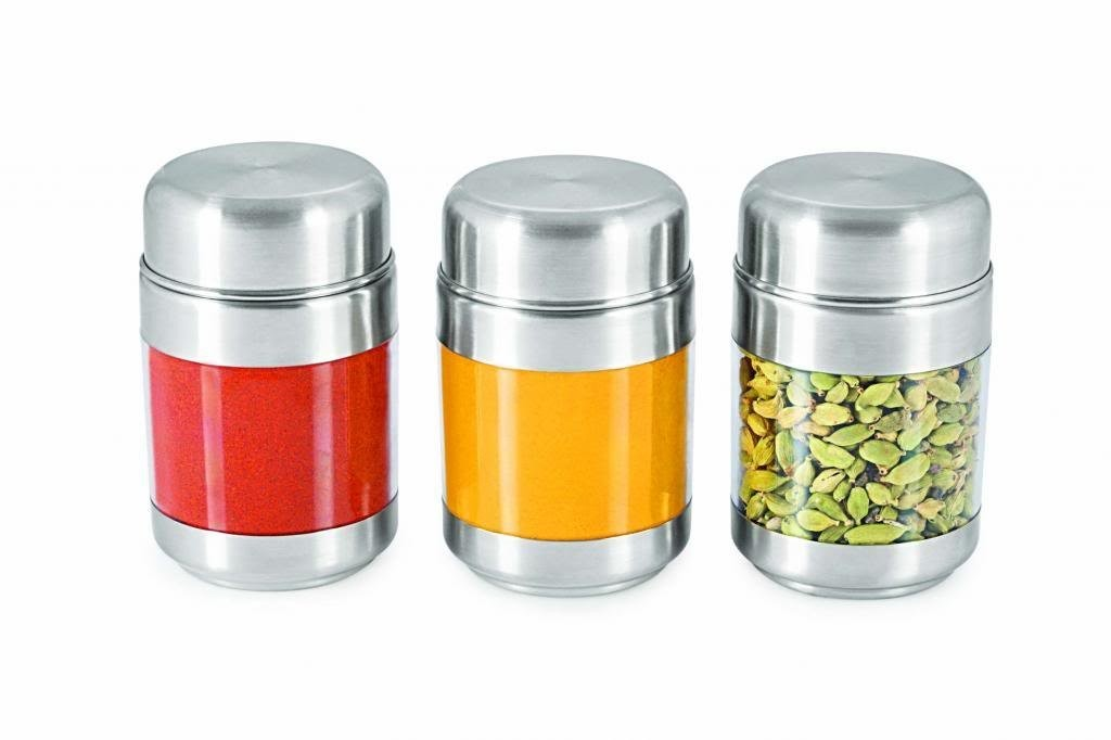 Sizzle Clear Containers 175 ml Set of 3 Twist Canisters S7