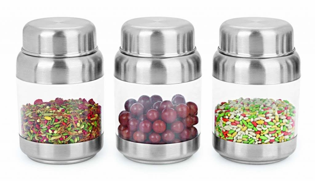 Sizzle Transparent Containers 175 ml Set of 3 Crystal Storage Box S7