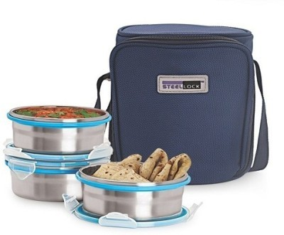 Steel Lock HL 1331 3 Containers Lunch Box (650 ml)