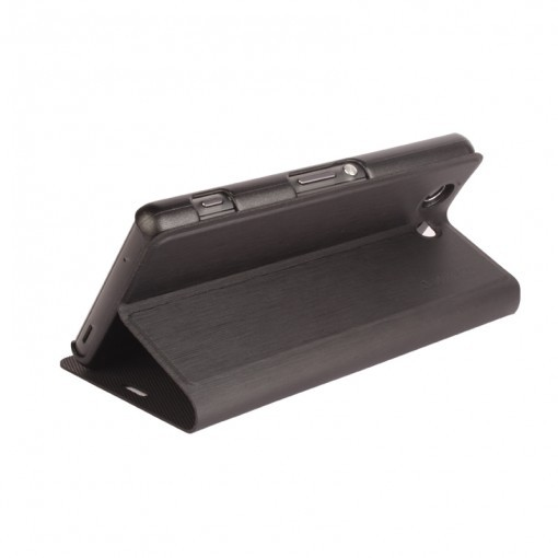Sony Xperia Z3 Compact  Stuffcool Cuir Flip Folder Case Cover  - Black