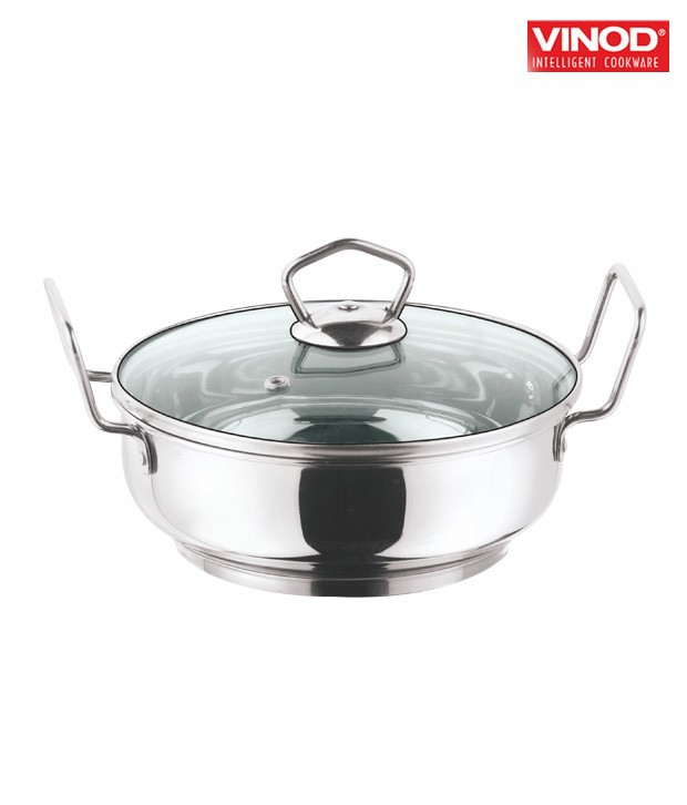 Vinod 24 cm Induction Bottom Kadai With Lid