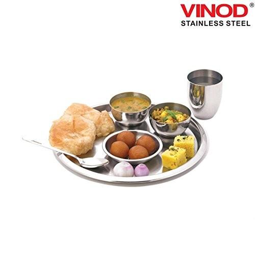 Vinod Steel 6 Pcs Thali Set