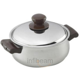 Vinod Steel Belly Hot Casserole (Silver, 1000 ml)