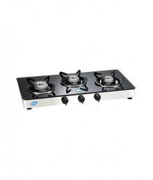 Glen 3 Burner Glass Top Cooktop GL 1033 GT