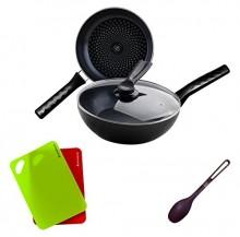 Wonderchef Non-Stick Forged Diamond Cookware Set 3 Cookware Sets
