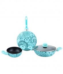 Wonderchef Oscar Bello Blue Cookware Set