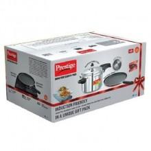 Prestige 5 ltr deluxe plusInduction Base  Pressure cooker Alluminium  +  FREE -Omega Deluxe Omni Tawa (Non Stick) 280 mm