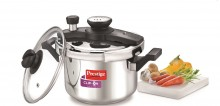 Prestige Clip - on Mini stainless Steel Pressure Cooker 2L with glass lid Accessory