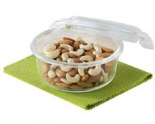 Borosil Klip & Store Round Containers with Lid, 950ml