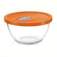 Borosil Mixing Bowl 0.9L With Plastic Lid