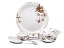 Dinewell Round Fantasy, 40-pieces, Melamine,