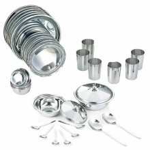 Neelam Stainless Steel Dinner Set Premium 36 pieces