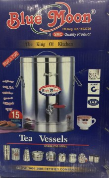 Bluemoon Stainless Steel Tea Vessel 15 Ltr