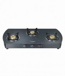 Prestige Premia 3 Burner Glass Top GTS 03 (D)