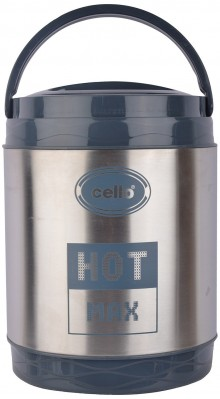 Cello Hot Max 3 Stainless Steel Lunch Box, 3 Containers