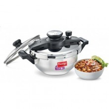 Prestige Clip on Stainless Steel Kadai pressure cooker Universal Lid along and glass lid with ladle holder