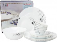 Laopala Diva Mystrio Black 33 Pcs Dinner Set