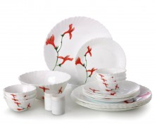 LaOpala Divine Petals 35/23Pcs Opalware Dinner Set