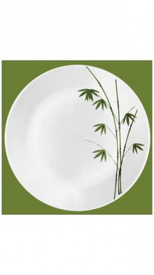 LaOpala Ivory Green Foliage Dinner Set-27 Pcs