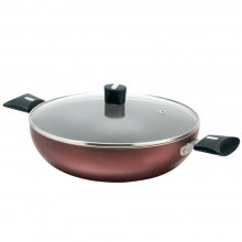 Nirlep Induction Compatible Kadhai With Lid, IJSK24WL, 240