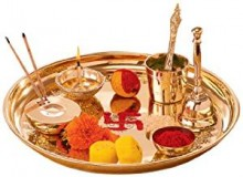 Borosil Puja Thali Brass