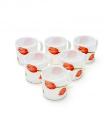 Laopala Cup Coffee Loops Red 6 Pcs set