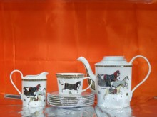 Hi Luxe Horse Tea Set Pc 17