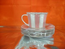 Hi Luxe Stripe Cup & Saucer Pink