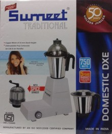 Sumeet Traditional Domestic DXE 750 W Mixer Grinder