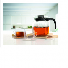 Borosil Classic Tea Set of 6 with Lid