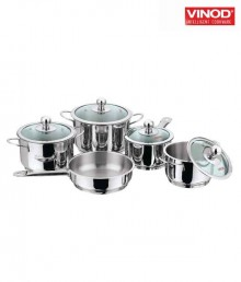 Vinod Multipot Idly And Dhokla Maker Small (3 Idly Plates And 3 Dhokla Plates)