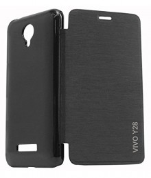 Vivo Y28 flip cover (black)